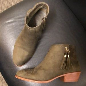 Shoes - Dark olive green booties